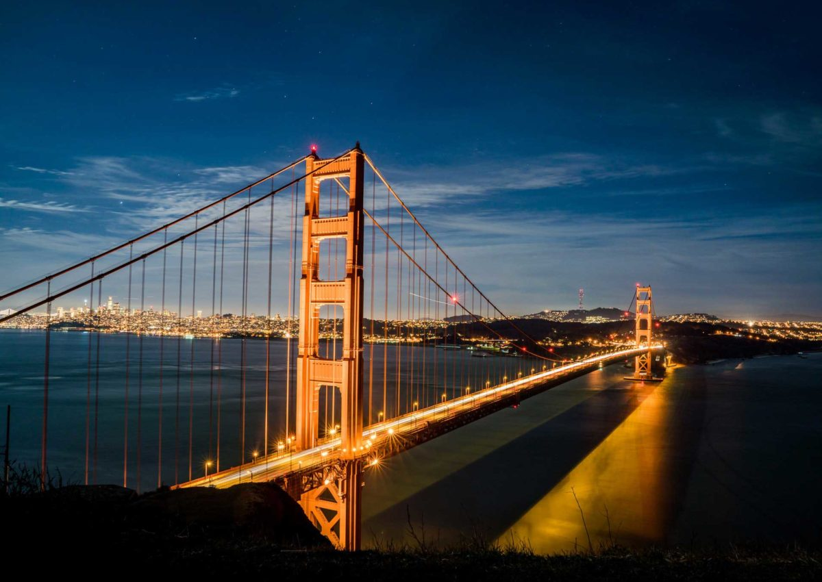 This is a photo of the San Francisco Bay bridge