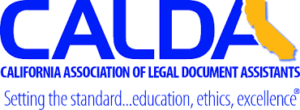 This is the logo of the California Association of Legal Document Assistants